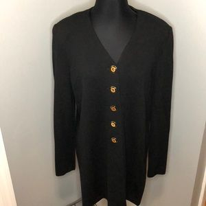 St. John Basics Black Button Cardigan Vintage